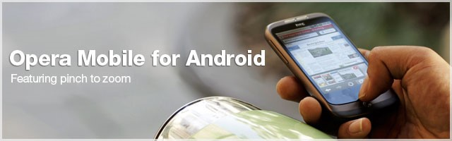 Opera. Agora completo no Android. Ou quase!