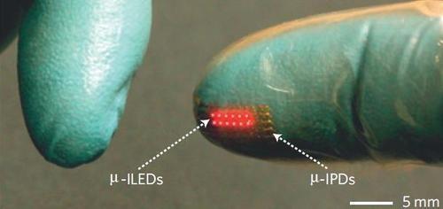 LEDs sobre a pele