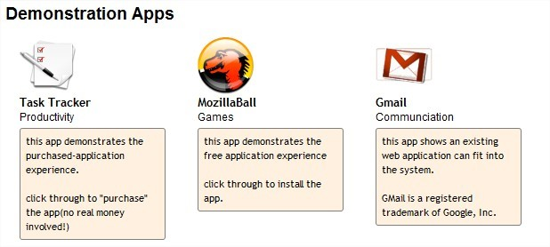 Demonstração da Open Web App