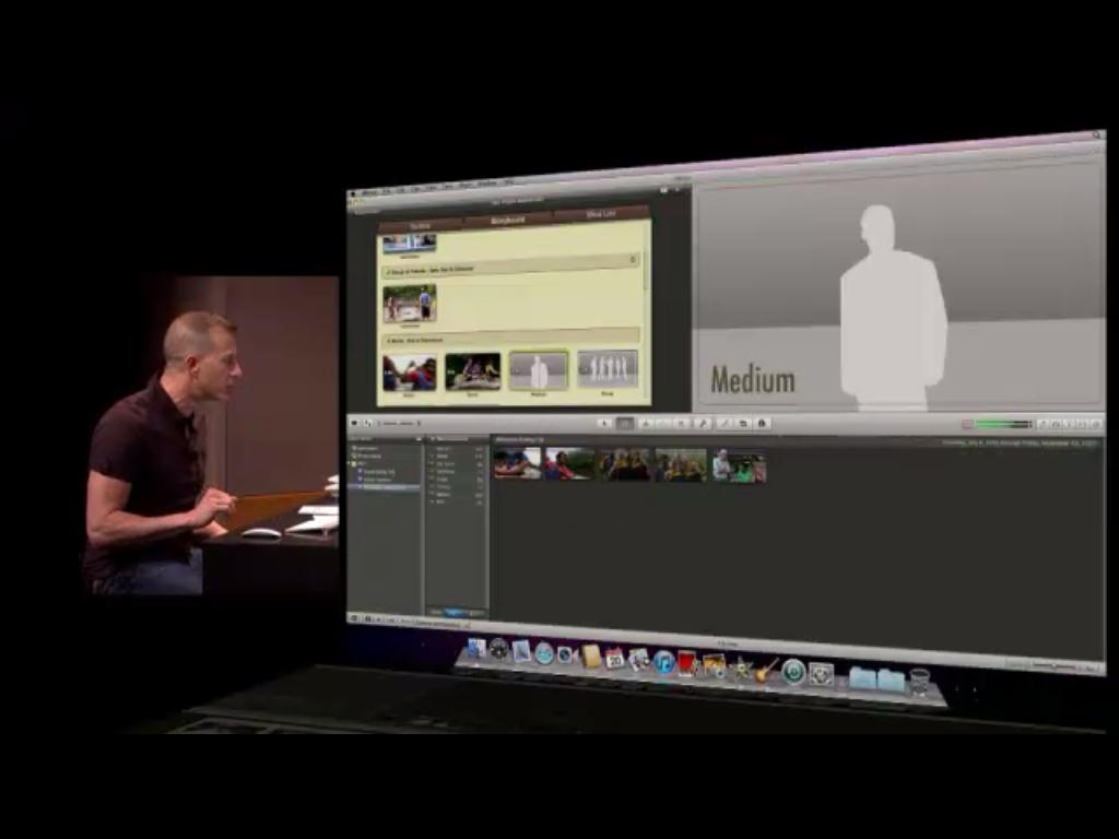 A criação automática de trailers mostra ao usuário quais cenas usar no filme.