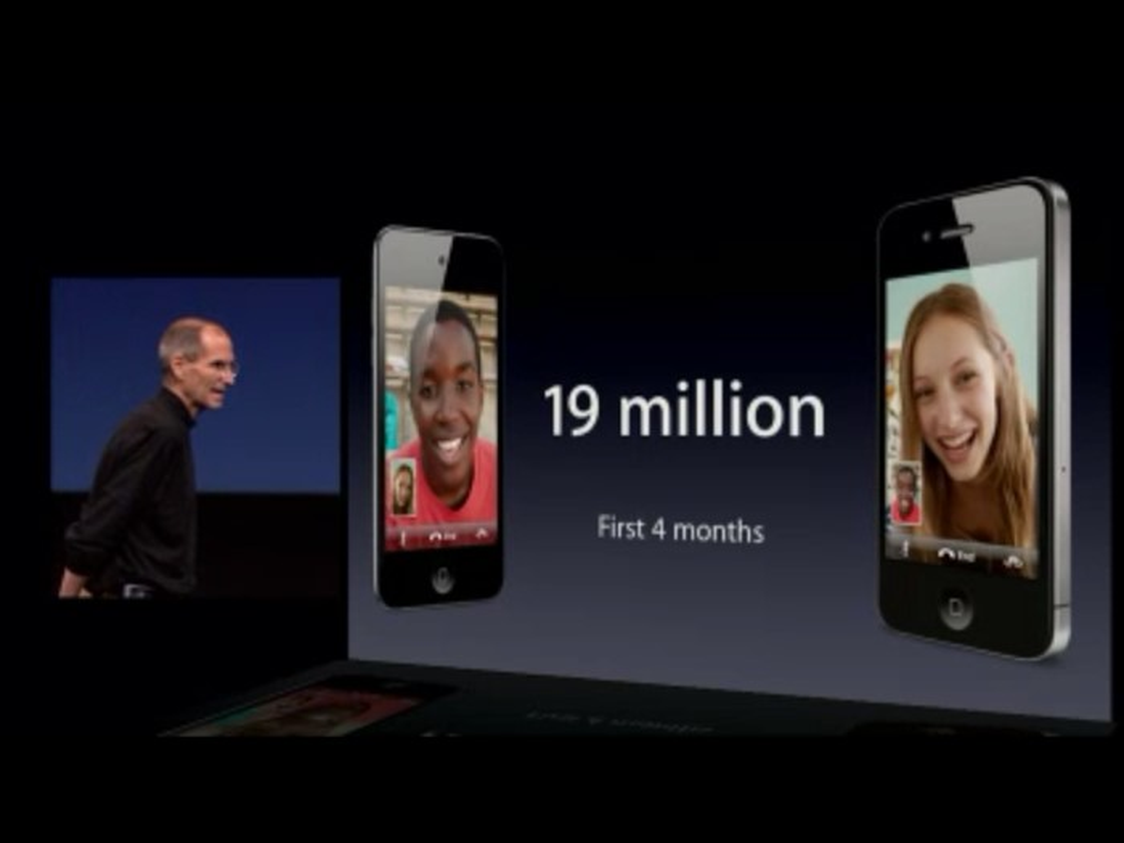 19 milhões de iPhones 4 vendidos nos primeiros 4 meses.