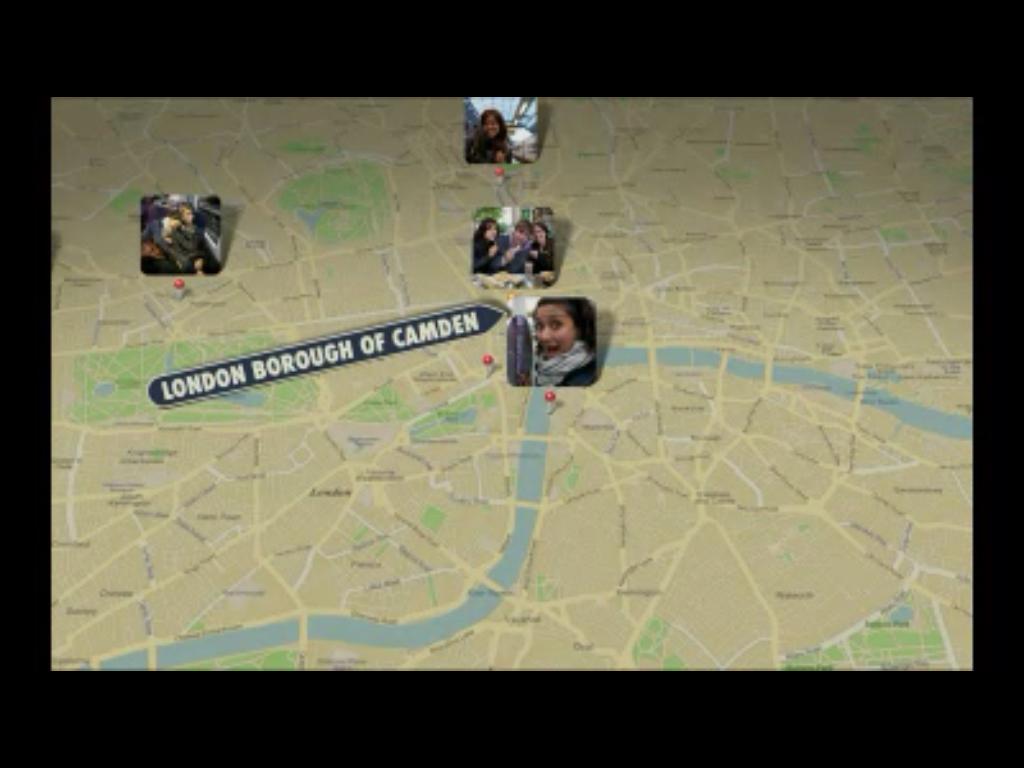 iPhoto 11: slideshows com localização das fotos.