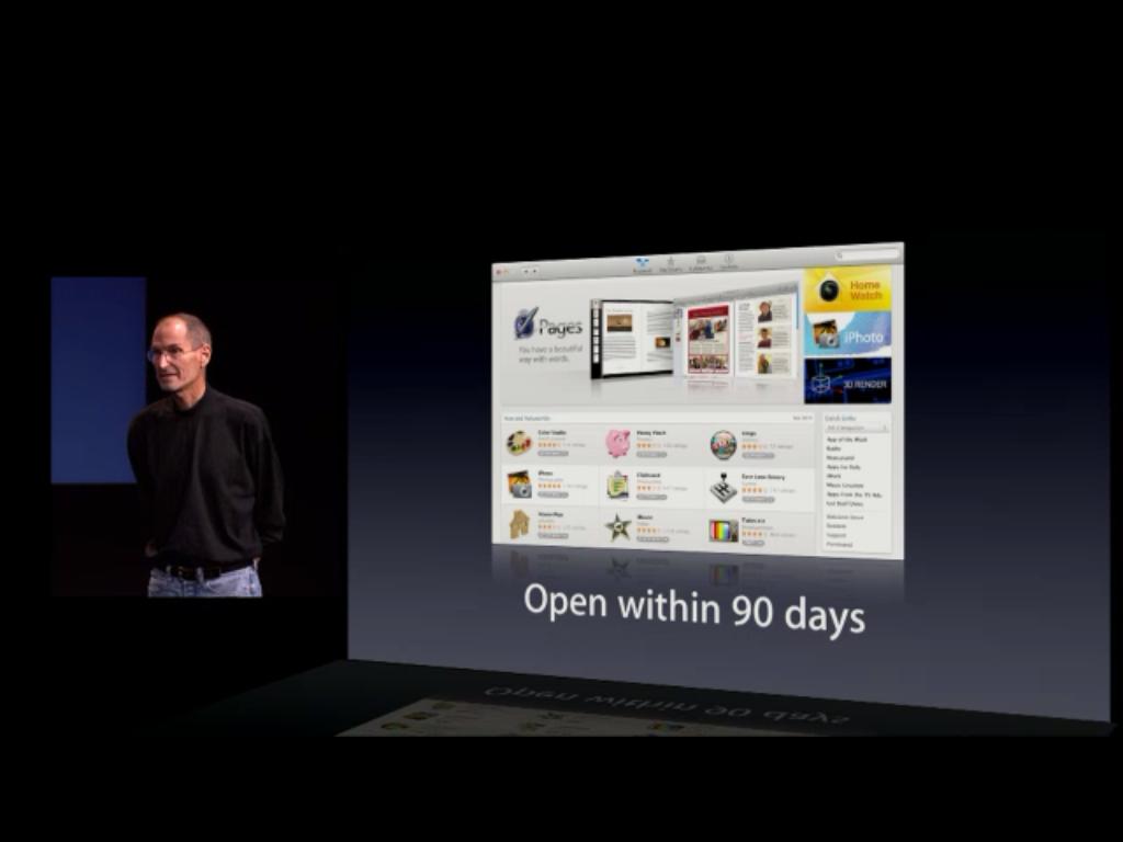 A nova App Store abre em 90 dias.