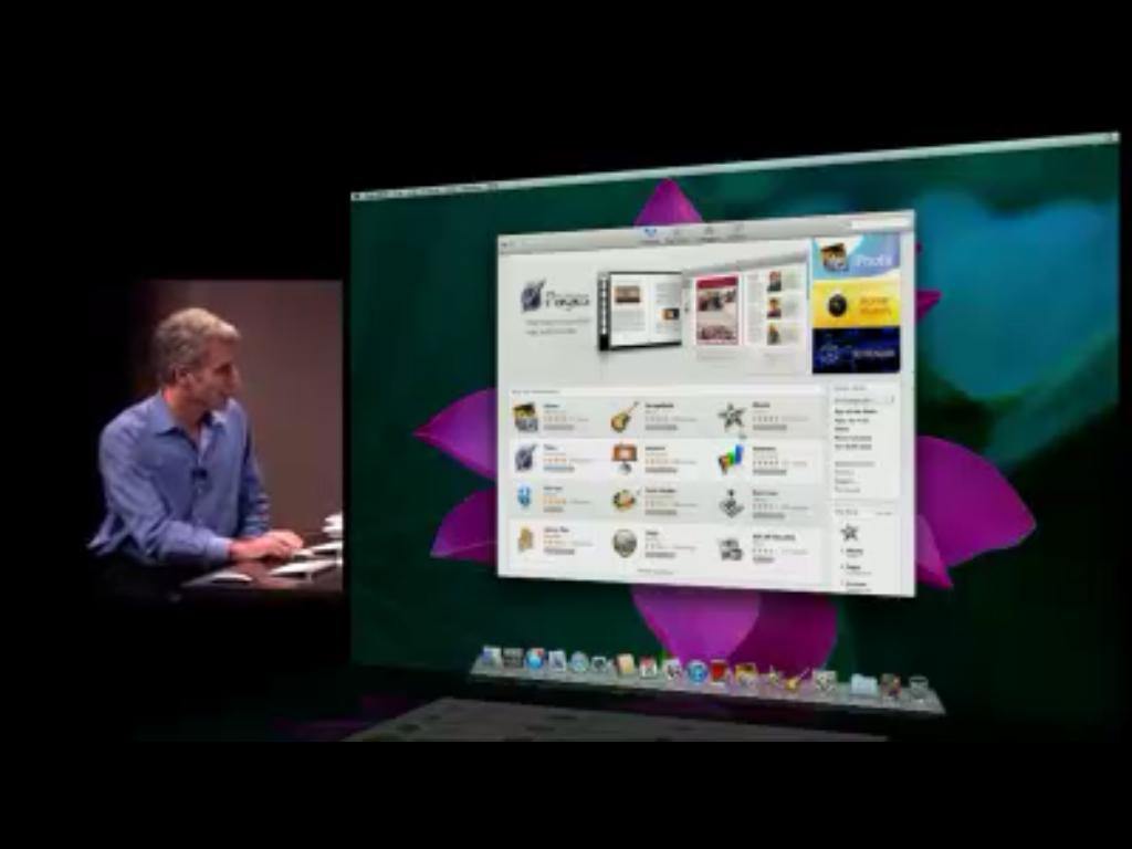Visão geral da nova App Store para MacOS.
