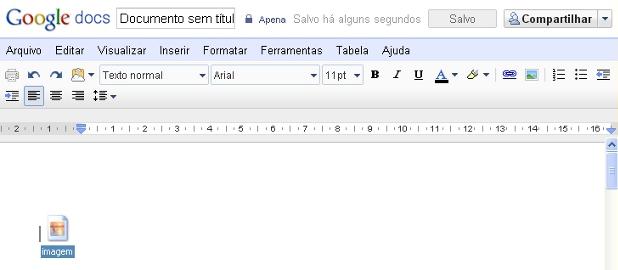 Agora é possível arrastar e soltar imagens para o Google Docs.