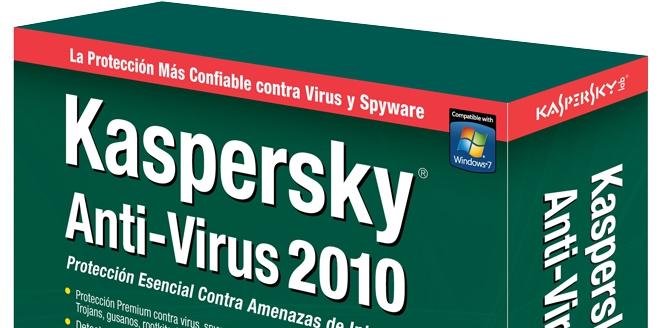 Detalhe da caixa do produto da Kaspersky