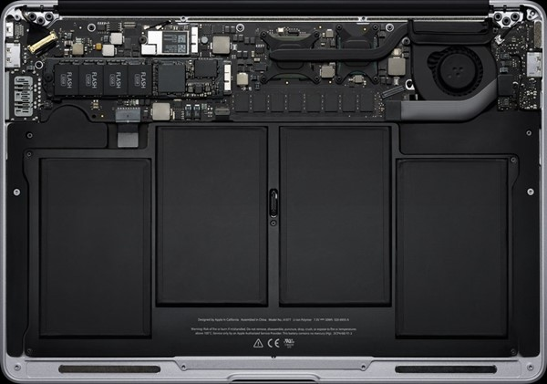 Por dentro o novo MacBook Air