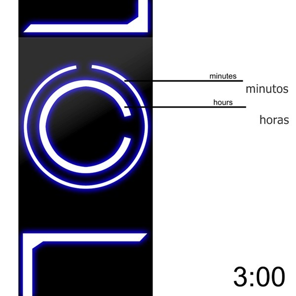 Leitura das horas no relógio-conceito 7R0N