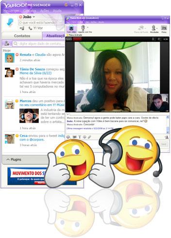 Yahoo Messenger com chamadas de vídeo.