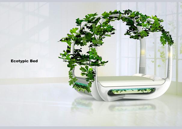 Conceito de cama ecologicamente correta