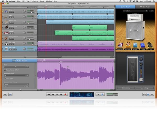 O GarageBand ´11 ajusta automaticamente o ritmo de uma música.