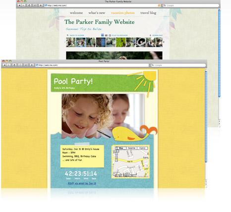 Exemplos criados com o iWeb.