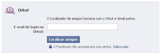 Ferramenta de integração Facebook e Orkut.