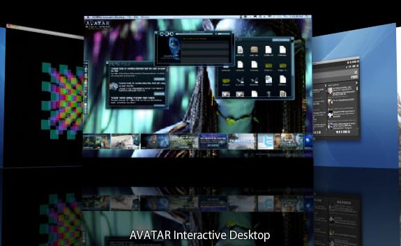 Desktop interativo Avatar