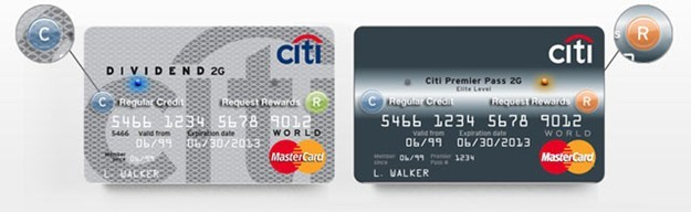 Reprodução dos novos cartões do CitiBank.