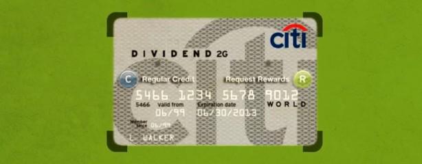Novo cartão apresentado no institucional do CityBank.