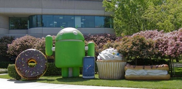 Mascotes das outras versões do Android