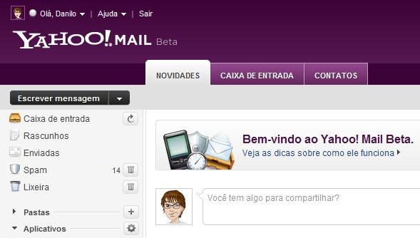 O novo Yahoo! Mail.