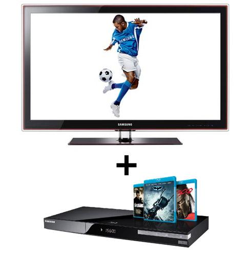 TV Samsung + Blu-ray