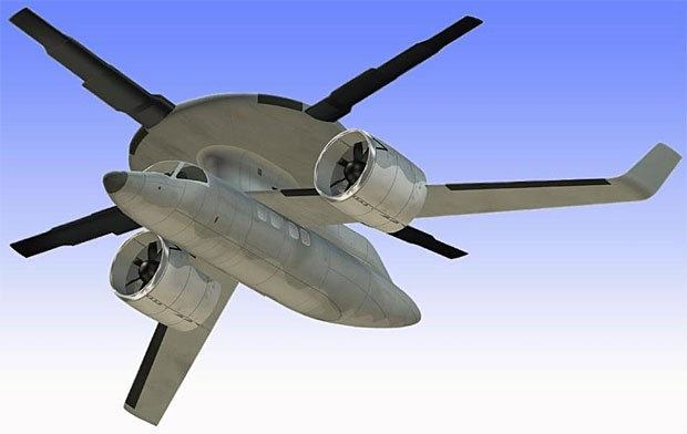 O avião que decola na vertical.