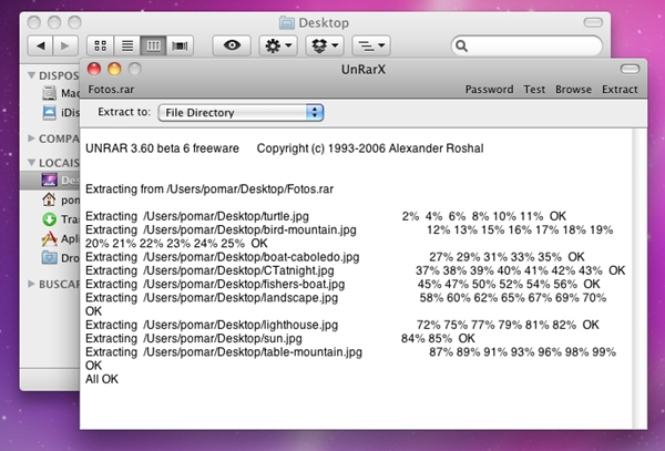 abrir arquivo rar para mac