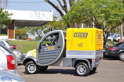 Novo carro elétrico dos Correios.
