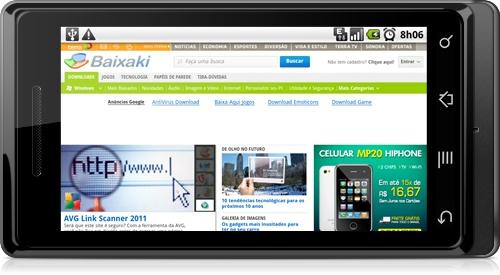 """Baixaki no navegador do Android. Aprenda aqui como encerrar tarefas sem depender de """"Task Killers"""""""