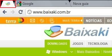Ícone criado para a página do Baixaki