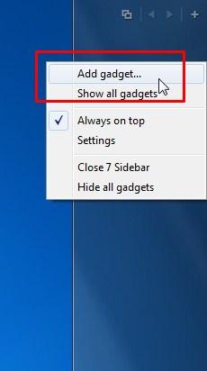 Adicionar widgets.