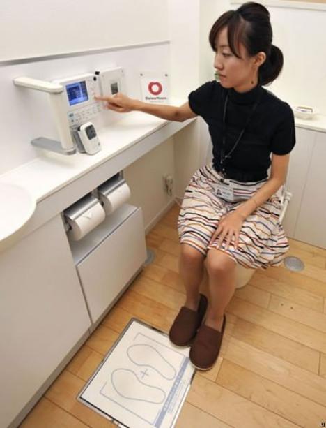 Banheiro que monitora a saúde dos usuários