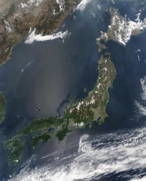Imagem por satélite do Japão