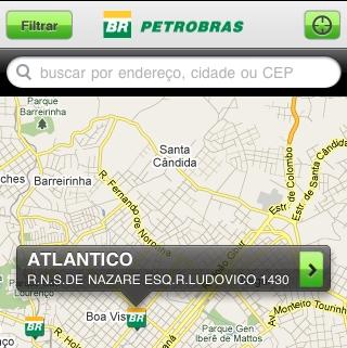 O Localizador de Postos da Petrobras.