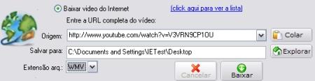 Opções do aTube Catcher