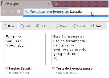 Busca no Evernote