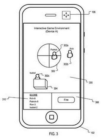 Imagem da patente requerida pela Apple