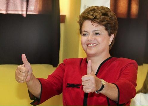 A primeira presidente do Brasil.