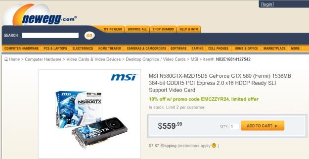A versão da MSI já à venda.