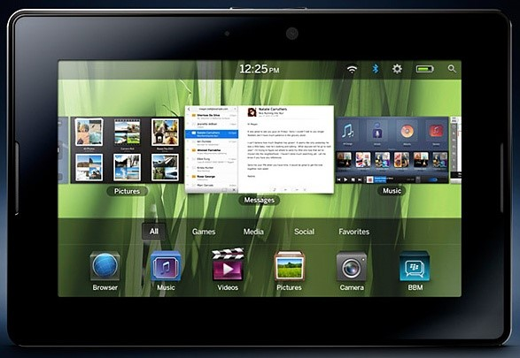 BlackBerry Playbook é o principal concorrente do iPad que não roda Android