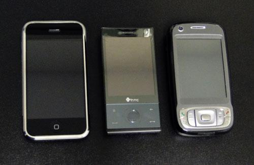 Comparação entre iPhone, Touch Diamond e Touch Pro