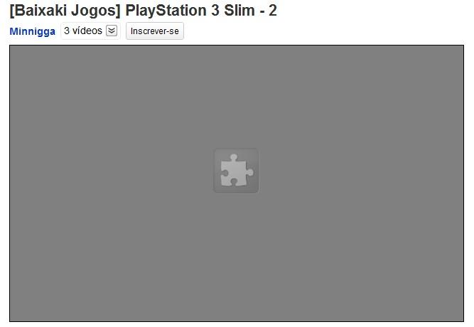 YouTube com bloqueio de plugins
