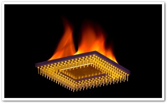 O processador ficaria em chamas.