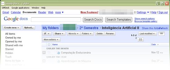 Serviços do Google direto em seu Desktop.