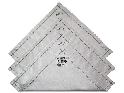 Material do Phonekerchief bloqueia sinal de celular