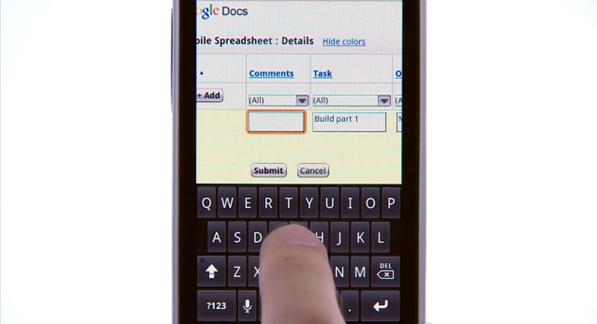 Editando uma planilha pelo celular
