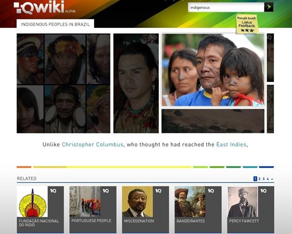 Qwiki: apresentação sobre os índios brasileiros