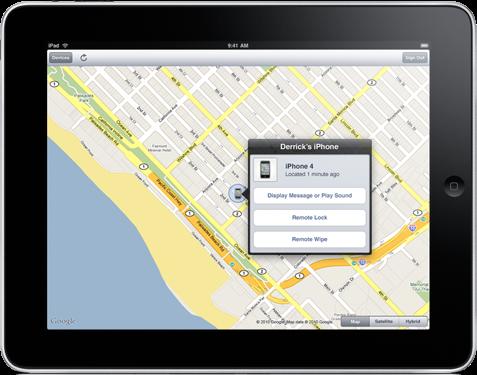 Find My Iphone gratuito no iOS 4.2, mas somente para aparelhos da quarta geração. Foto: Divulgação/Apple