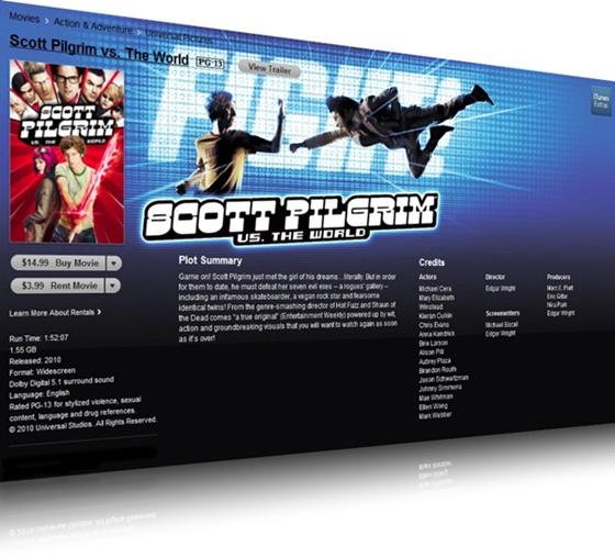 Tela de venda ou aluguel de Scott Pilgrim Contra o Mundo