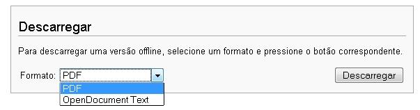 Salve em PDF ou ODT