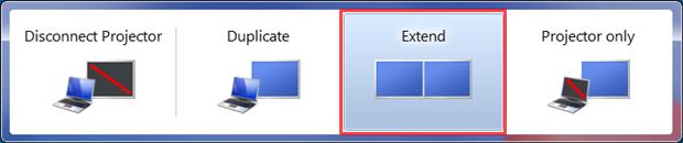 Escolha a opção Extend