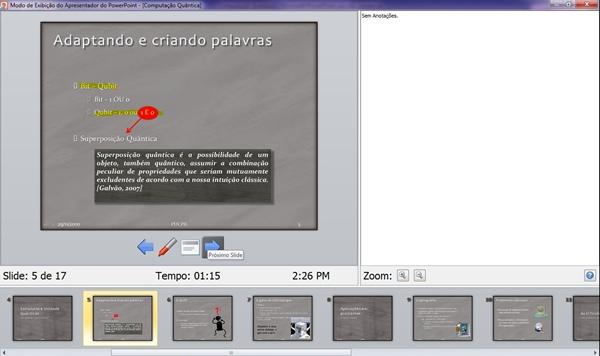 Tela de auxílio ao apresentador é mostrada em um dos monitores